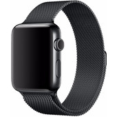 Apple Watch 42mm Polsband Milanees Spacezwart