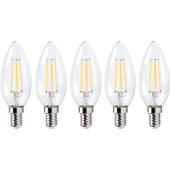XQ LITE XQ1562 LED-Lamp Kaars E14 4W Dimbaar (5x)