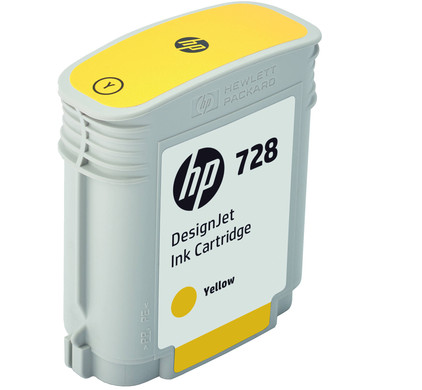 HP 728 Cartridge Geel (F9J61A)
