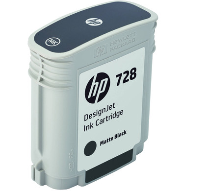 HP 728 Cartridge Matzwart (F9J64A)