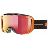 Uvex Snowstrike FM Black Orange Mat + Mirror Red Lens