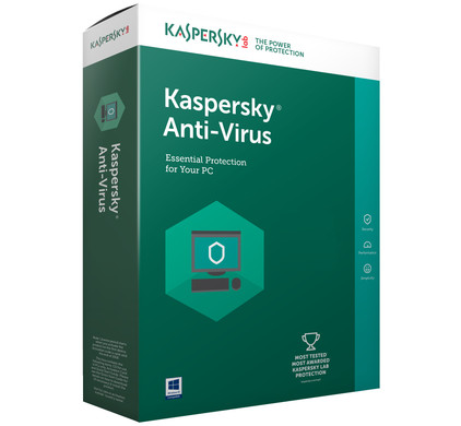 Kaspersky Antivirus 2017 1 jaar abonnement / 3 Gebruikers
