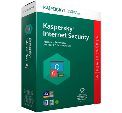 Kaspersky Internet Security 2017 1 jaar abonnement / 3 Gebruikers