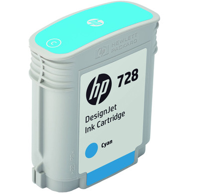 HP 728 Cartridge Cyaan (F9J63A)