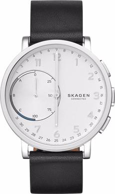 Skagen Hagen Connected Hybrid Zwart Leer