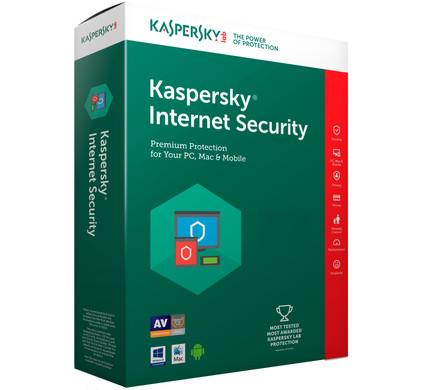 Kaspersky Internet Security 2017 1 jaar abonnement / 1 Gebruiker