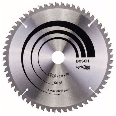 Image of Bosch Cirkelzaagblad Optiline Wood 254x30x2mm 60T