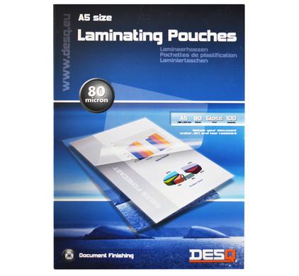 Desq Lamineerhoezen 80 micron A5 (100 stuks)