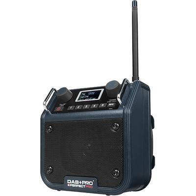Image of DAB+ Baustellenradio PerfectPro DAB+ PRO AUX, DAB+, FM Spatwaterbestendig, Stofvast, Stofdicht Blauw