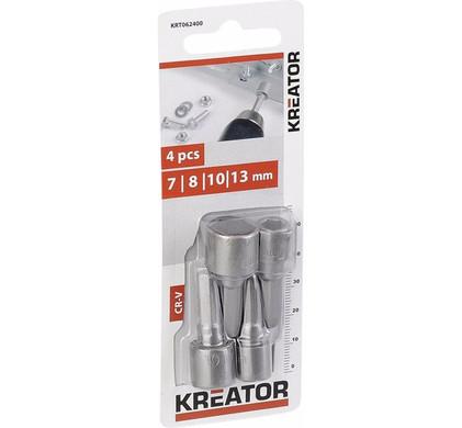 Kreator Dopsleutelbitset 4-delig 7,8,10,13mm
