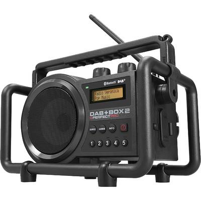 Image of DAB+ Baustellenradio PerfectPro DAB+ Box 2 AUX, Bluetooth, DAB+, FM Spatwaterbestendig, Stofdicht, Stofvast Zwart
