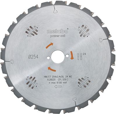 Metabo Zaagblad 315x30x1.8mm 20T