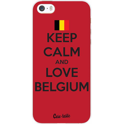 Image of Casetastic Softcover Apple iPhone 5/5S/SE Keep Calm and Love Belgium
