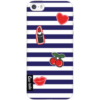 Image of Casetastic Softcover Apple iPhone 5/5S/SE Navy Patches