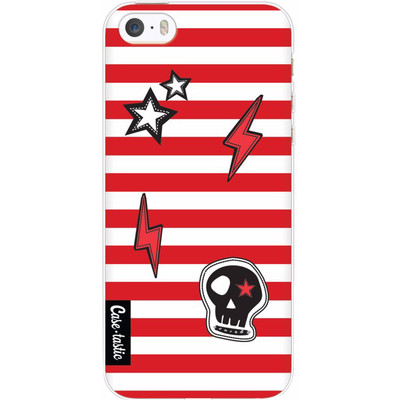 Image of Casetastic Softcover Apple iPhone 5/5S/SE Red Patches