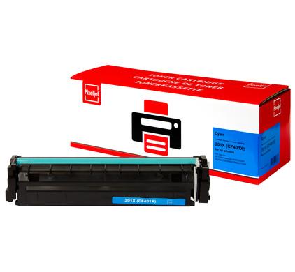 Huismerk HP 201X Toner Cyaan XL (Pixeljet - CF401X)