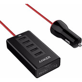 Anker PowerDrive 5 Poorts Autolader Zwart