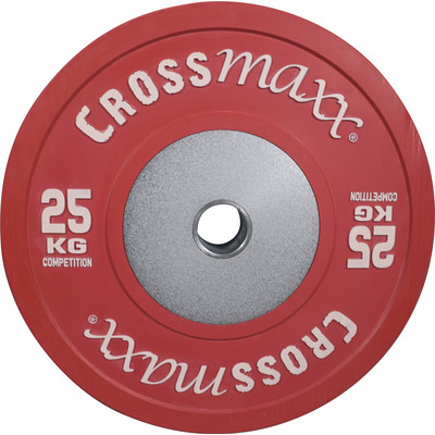 Image of Crossmaxx Competition Bumper Plate 25 kg Red