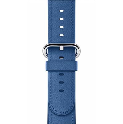 Apple Watch 42mm Polsband Klassiek Leer Zeeblauw