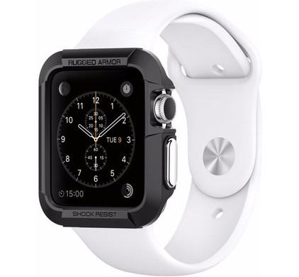 Spigen Rugged Armor Apple Watch 42mm Case Zwart