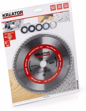 Kreator Zaagblad Universeel 254x30x2.4mm 60T