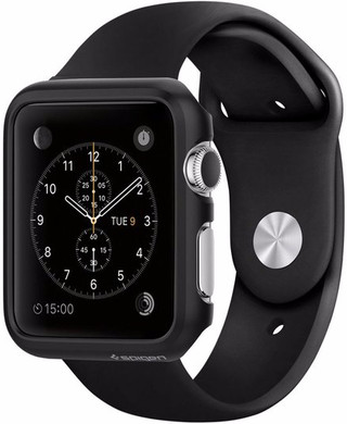 Spigen Thin Fit Apple Watch 42mm Case Zwart