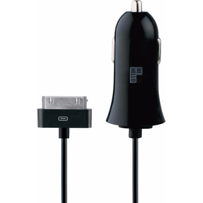 Image of Be Hello BeHello Car Charger with Cable 30 pin (1,2m) 2.1A Straight Black