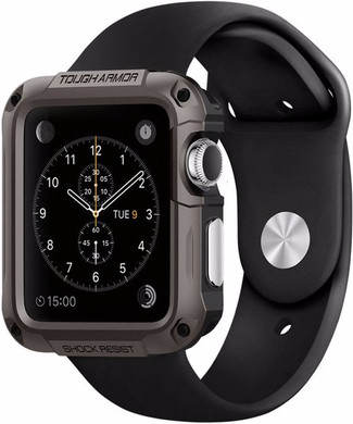 Spigen Tough Armor Apple Watch 42mm Case Grijs