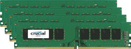 Crucial Standard 32 GB DIMM DDR4-2400 4 x 8 GB