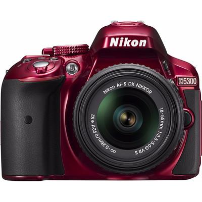 Image of Nikon D5300 rood + AF-P 18-55mm VR