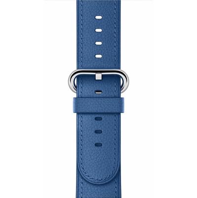 Apple Watch 38mm Polsband Klassiek Leer Zeeblauw