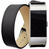 Just in Case Lederen Watchband Fitbit Charge 2 Black
