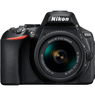 Image of Digitale spiegelreflexcamera Nikon Incl. AF-P 18-55 mm VR 24.2 Mpix Zwart WiFi, Full-HD video-opname