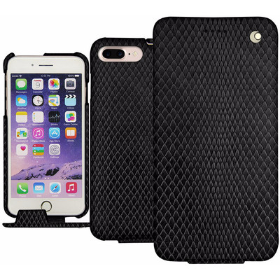 Noreve Tradition Snake Leather Case Apple iPhone 7 Plus Zwart