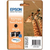 Epson T0711H Black Ink Cartridge (zwart, duopack) T07114H10