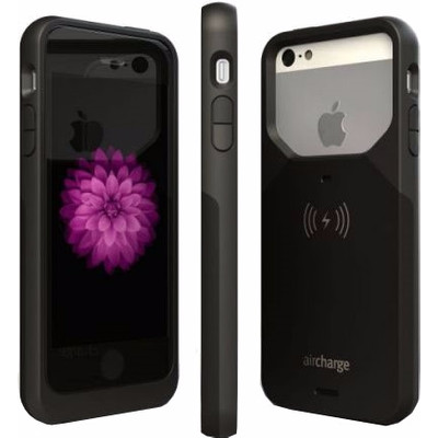Image of Aircharge Wireless Charging Case Apple iPhone 5/5S/SE Zwart