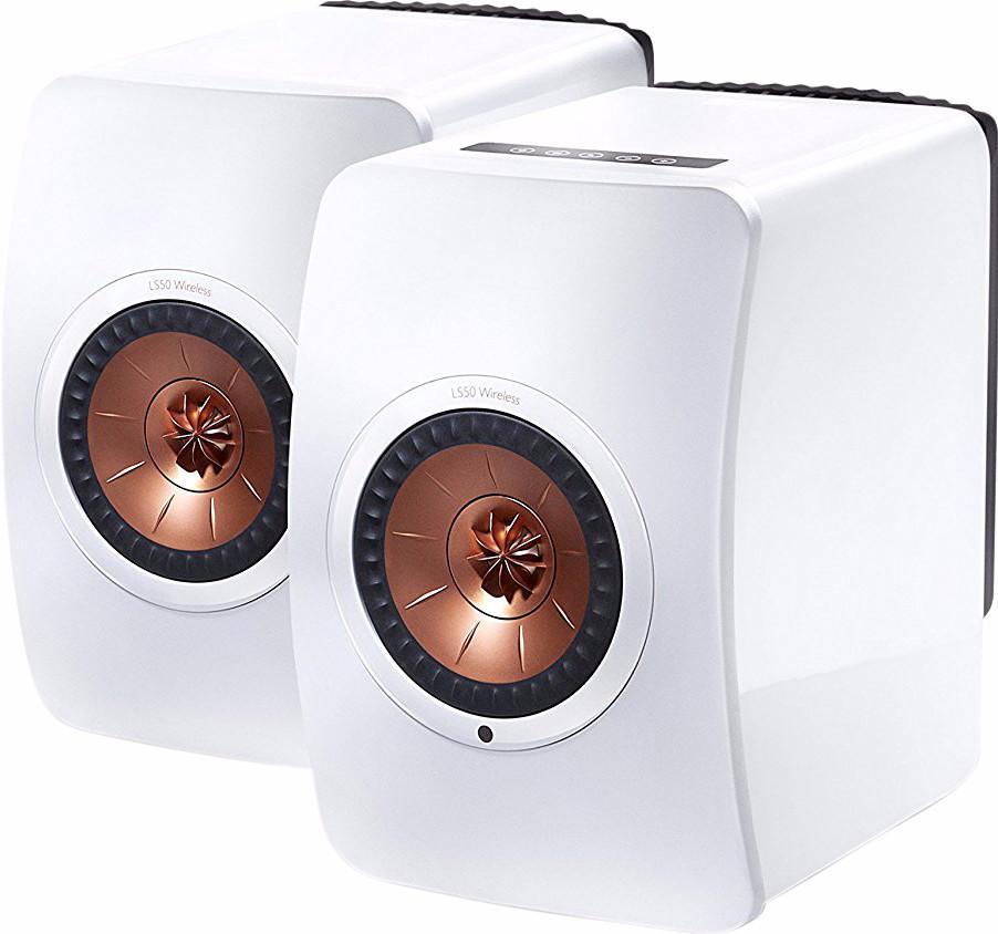 KEF LS50 stereo speakers wit