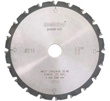 Metabo Zaagblad Power Cut 216mm 24T