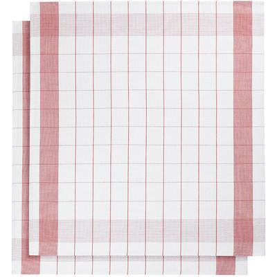 Image of De Witte Lietaer Mixte Theedoeken 2 stuks Rood