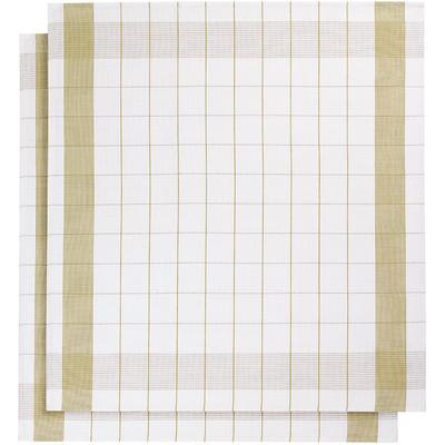Image of De Witte Lietaer Mixte Theedoeken 2 stuks Geel