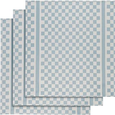 Image of De Witte Lietaer Groom Theedoeken 3 stuks Blauw