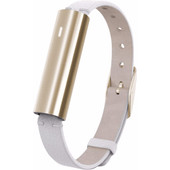 Misfit Ray Polished Gold/Wit Leren Polsband