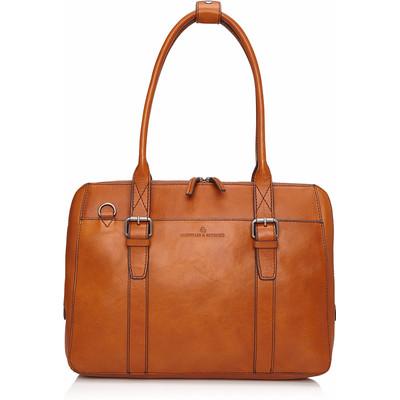 Image of Castelijn & Beerens Bravo Dames Laptoptas 15,6 Cognac