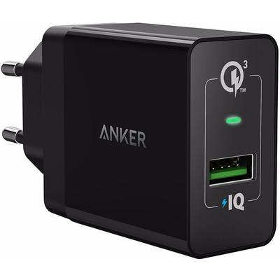Image of Anker PowerPort+1 Adapter USB Quick Charge 3.0 Zwart