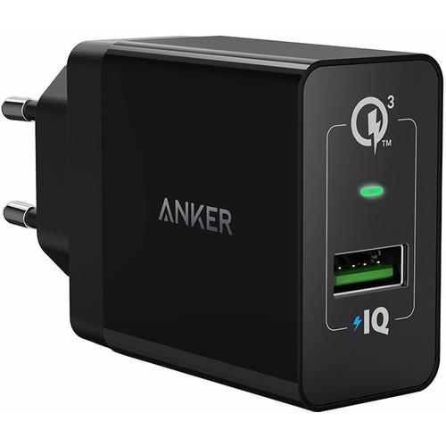 Anker PowerPort+1 Adapter USB Quick Charge 3.0 Zwart