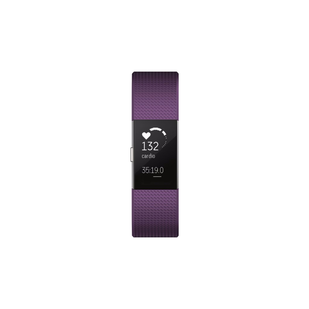Fitbit Charge 2 Plum-Silver L