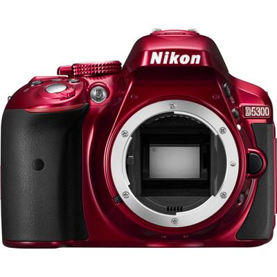 Image of Digitale spiegelreflexcamera Nikon D5300Body 24.2 Mpix Rood Full-HD video-opname, WiFi, Draai- en zwenkbare display, GPS