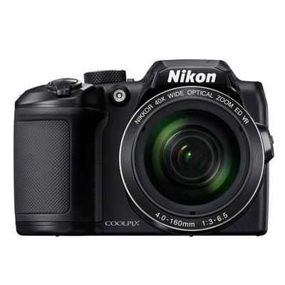 Image of Nikon Coolpix B-500 Digitale camera 16 Mpix Zwart Full-HD video-opname, Klapbaar display, Bluetooth