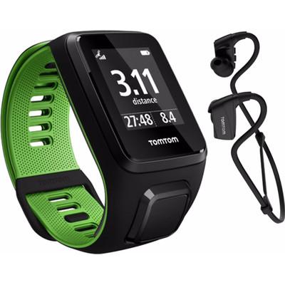 TomTom Runner 3 Cardio + Music + Headphone Black/Green - L