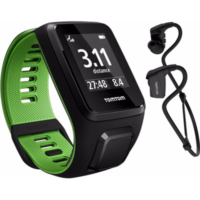 TomTom Runner 3 Cardio + Music + Headphone Black/Green - L